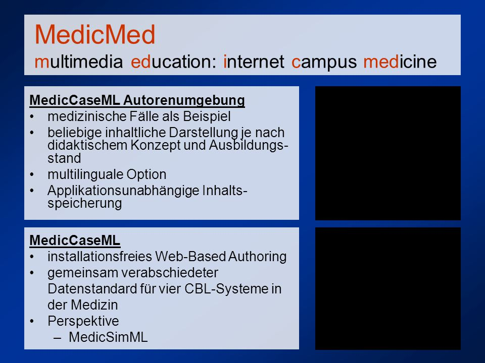 MedicMed multimedia education: internet campus medicine