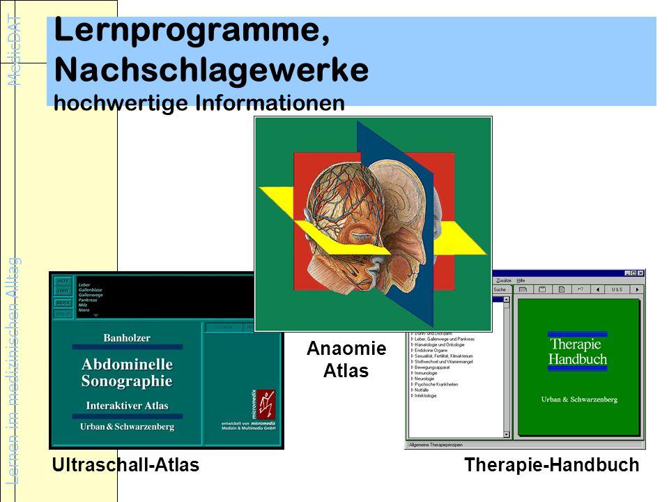 Lernprogramme, Nachschlagewerke hochwertige Informationen
