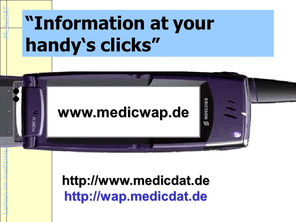 Information at your handy's clicks