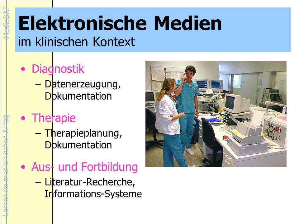 Elektronische Medien im klinischen Kontext