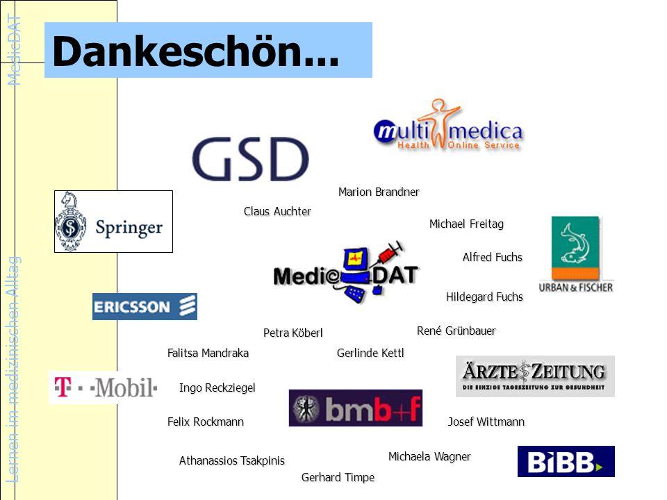 Dankeschön... Marion Brandner Claus Auchter Michael Freitag