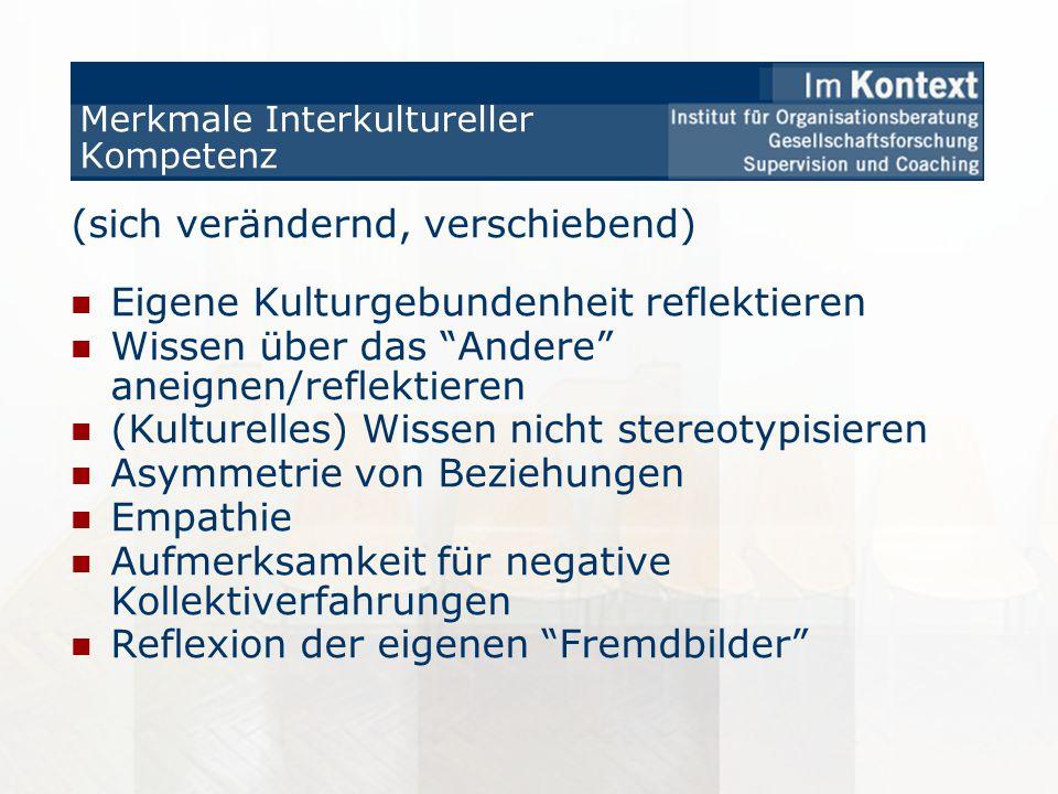 Merkmale Interkultureller Kompetenz