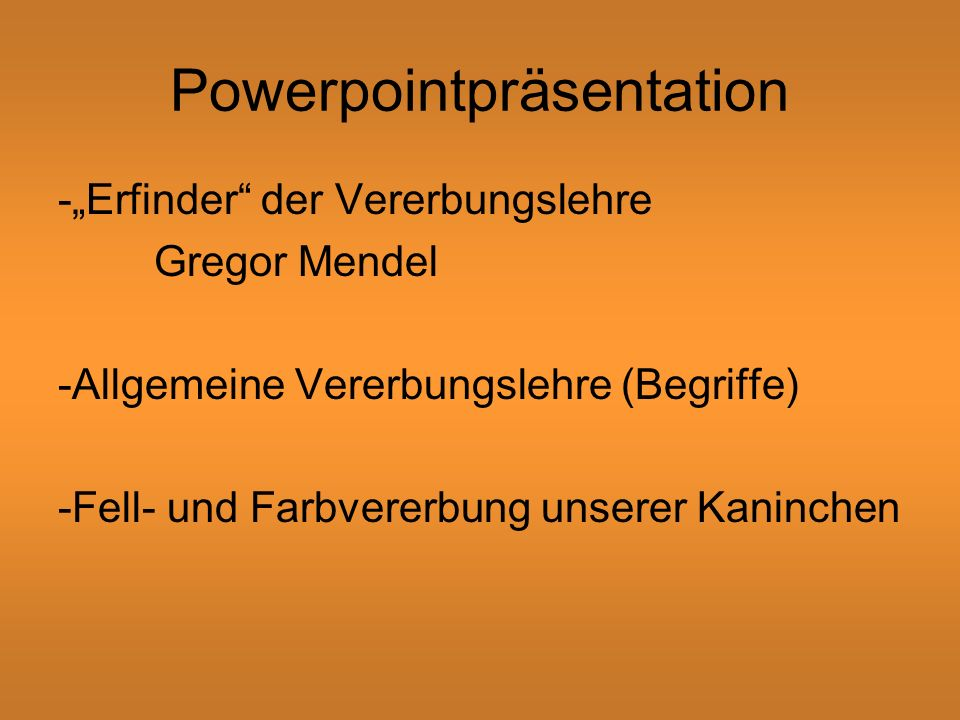 Powerpointpräsentation