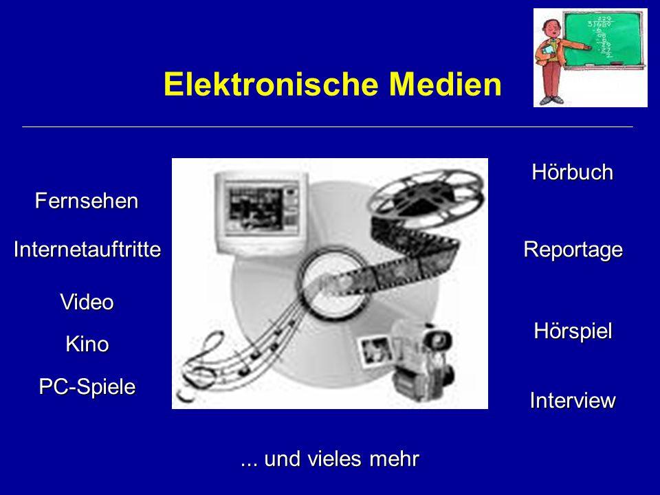 Elektronische Medien Hörbuch Fernsehen Internetauftritte Reportage