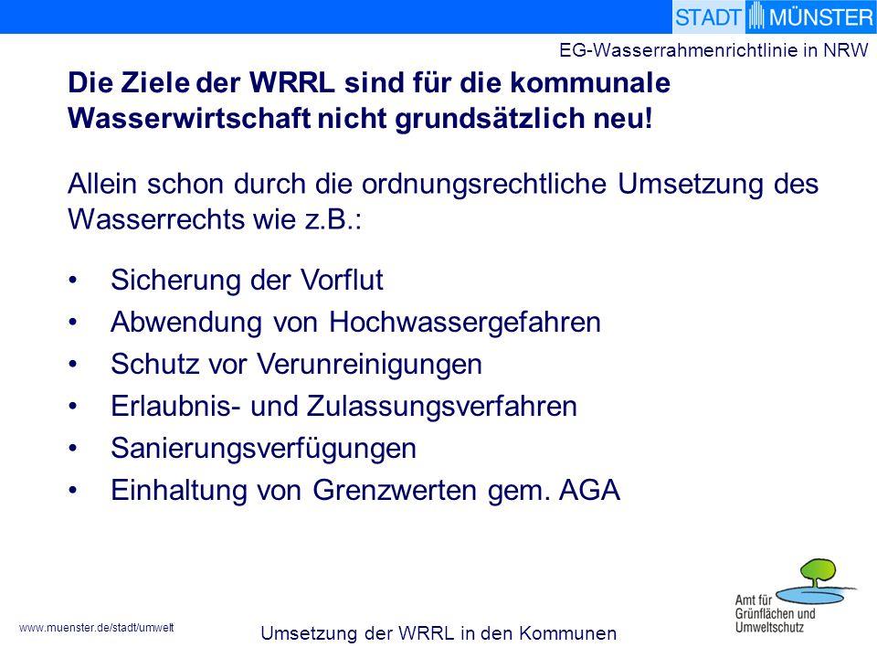 EG-Wasserrahmenrichtlinie in NRW