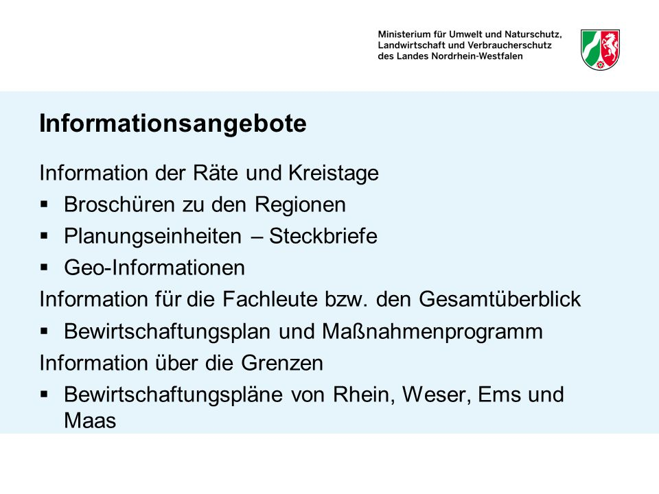 Informationsangebote