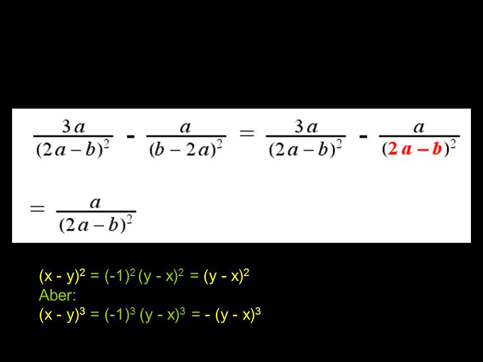 (x - y)2 = (-1)2 (y - x)2 = (y - x)2