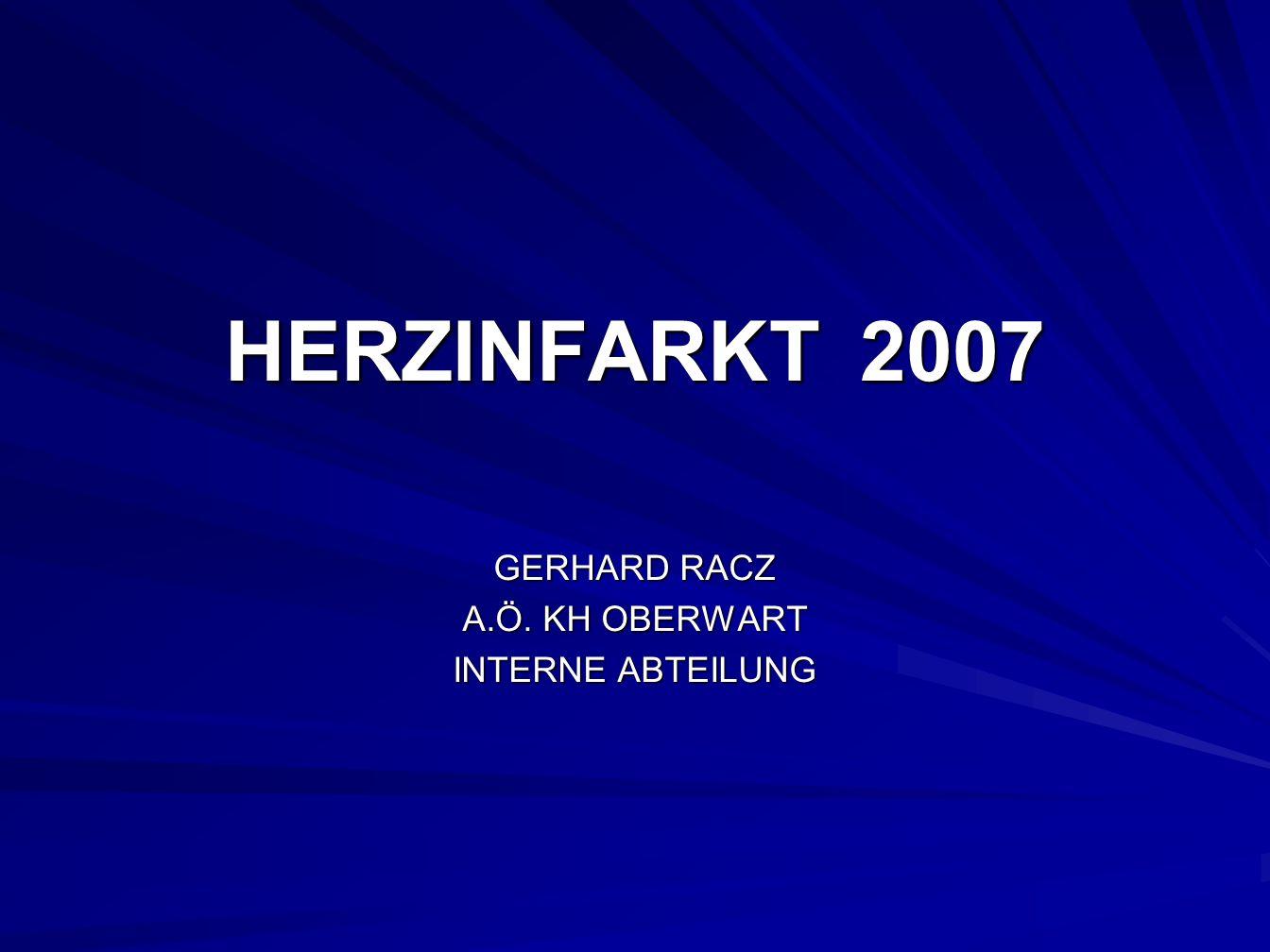 GERHARD RACZ A.Ö. KH OBERWART INTERNE ABTEILUNG