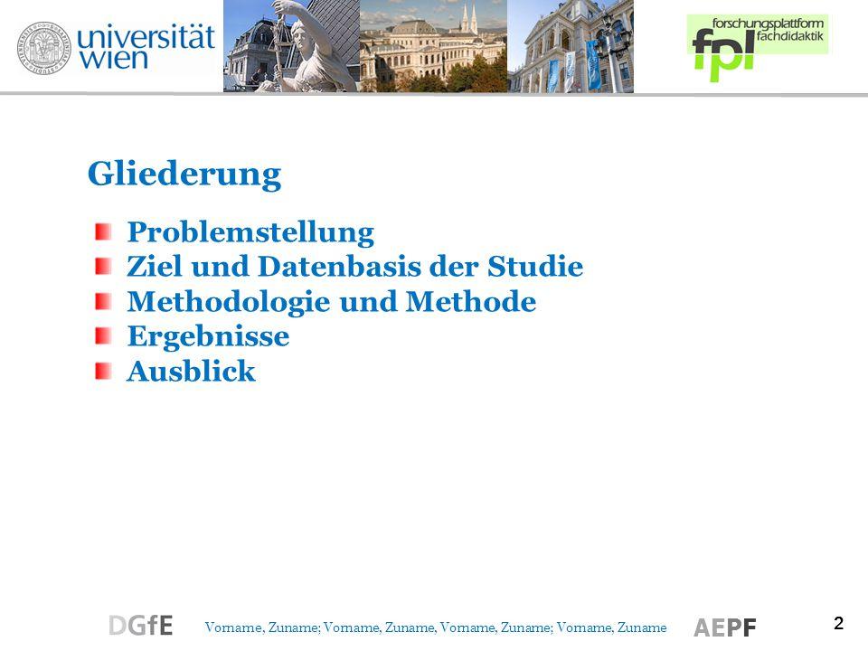 Gliederung Problemstellung Ziel und Datenbasis der Studie