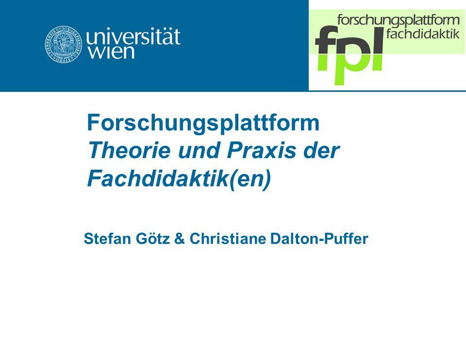 Forschungsplattform Theorie und Praxis der Fachdidaktik(en)
