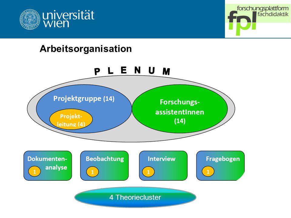 Arbeitsorganisation 4 Theoriecluster