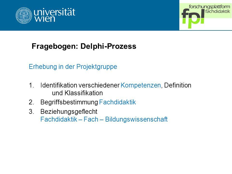 Fragebogen: Delphi-Prozess