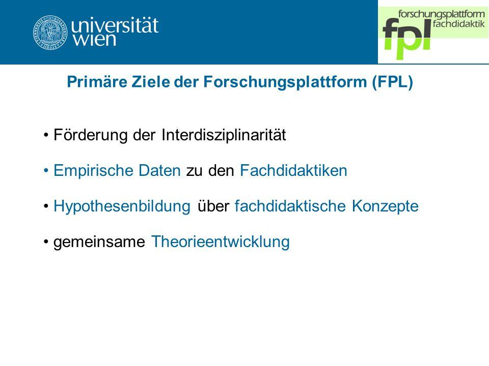 Primäre Ziele der Forschungsplattform (FPL)