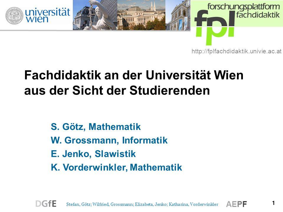 Fachdidaktik an der Universität Wien aus der Sicht der Studierenden