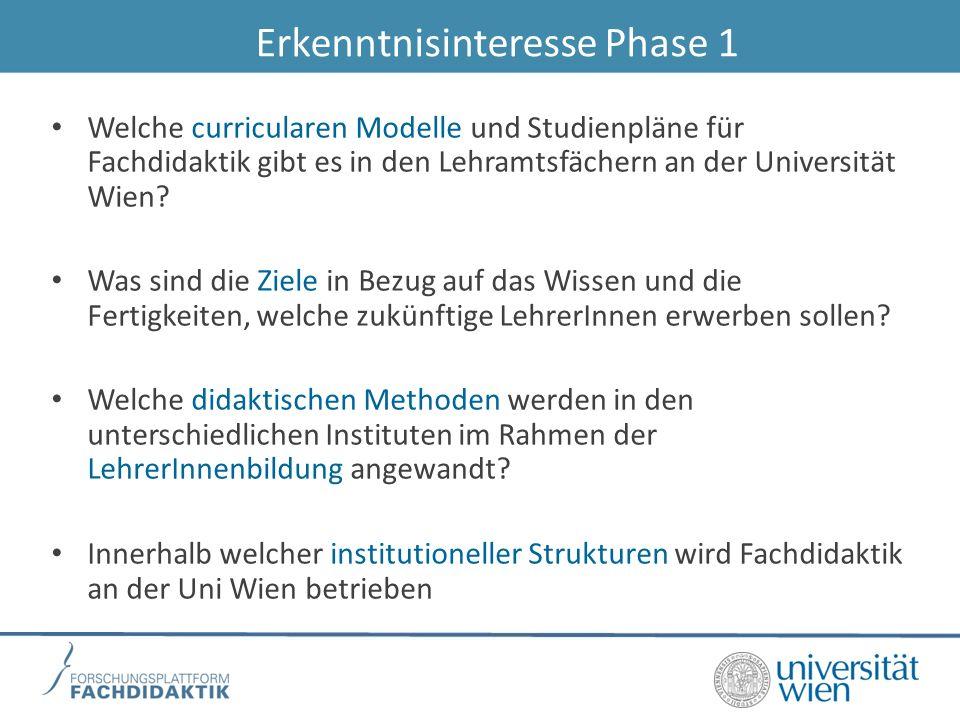 Erkenntnisinteresse Phase 1