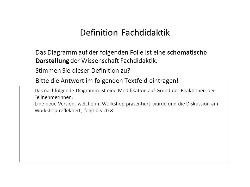 Definition Fachdidaktik