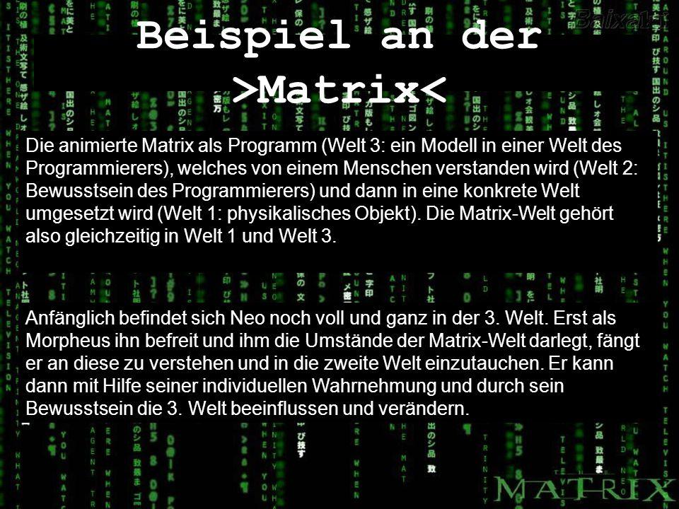 Beispiel an der >Matrix<