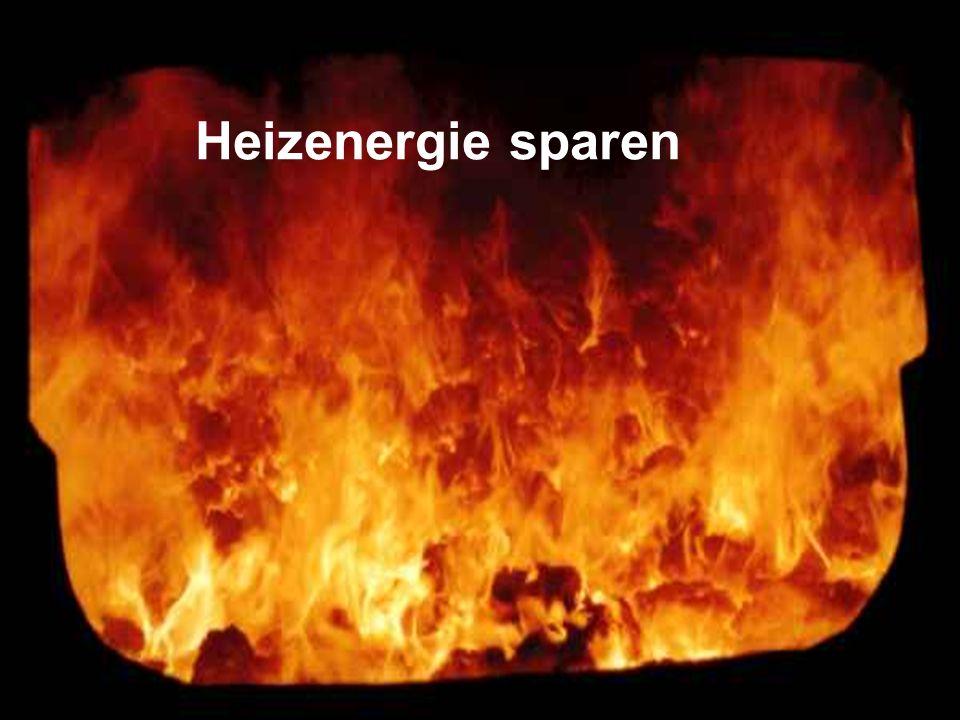 Heizenergie sparen