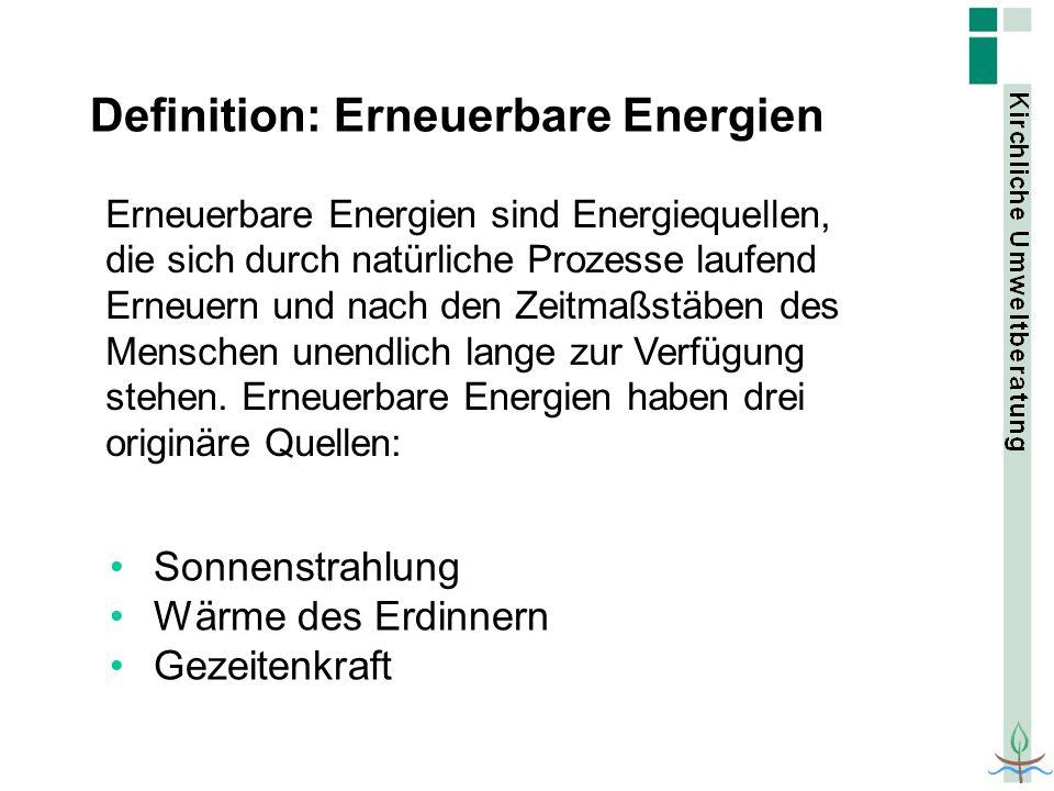 Definition: Erneuerbare Energien