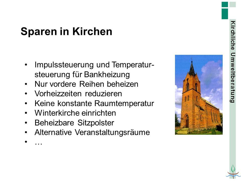 Sparen in Kirchen Impulssteuerung und Temperatur-