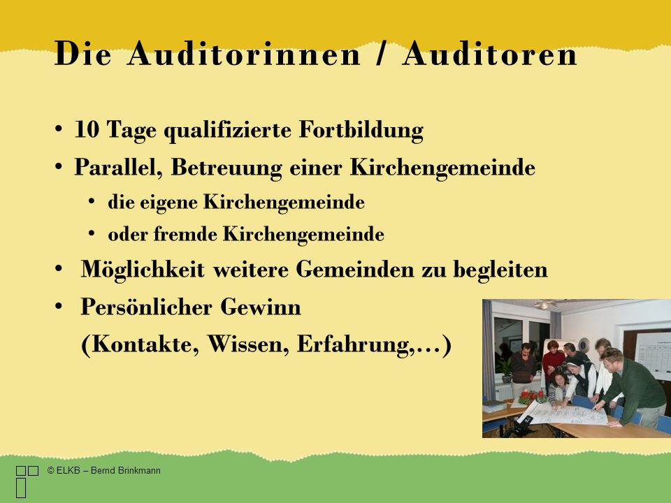 Die Auditorinnen / Auditoren