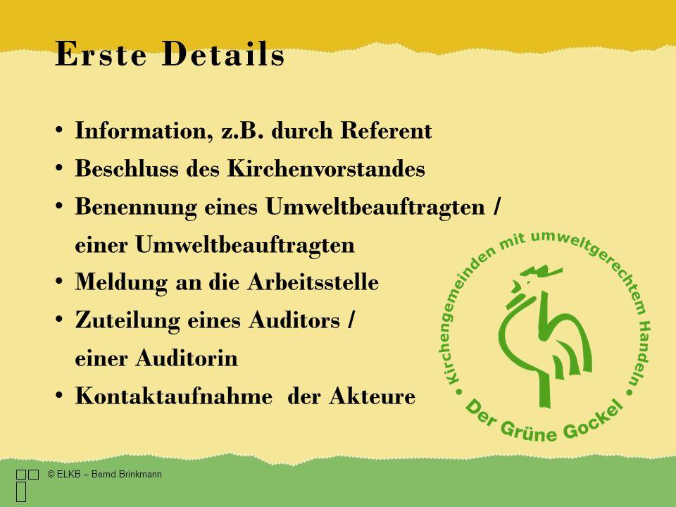 Erste Details Information, z.B. durch Referent