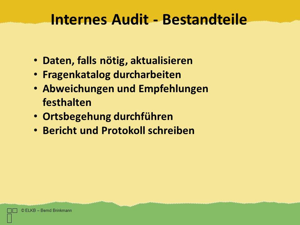 Internes Audit - Bestandteile