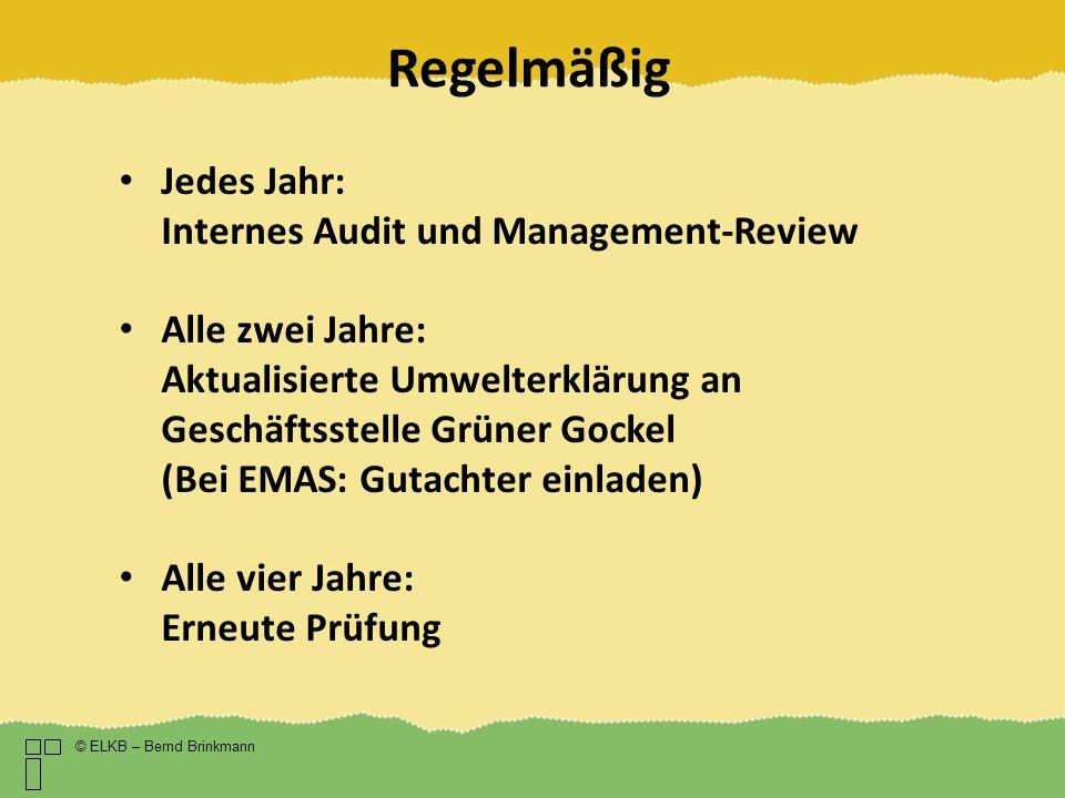 Regelmäßig Jedes Jahr: Internes Audit und Management-Review
