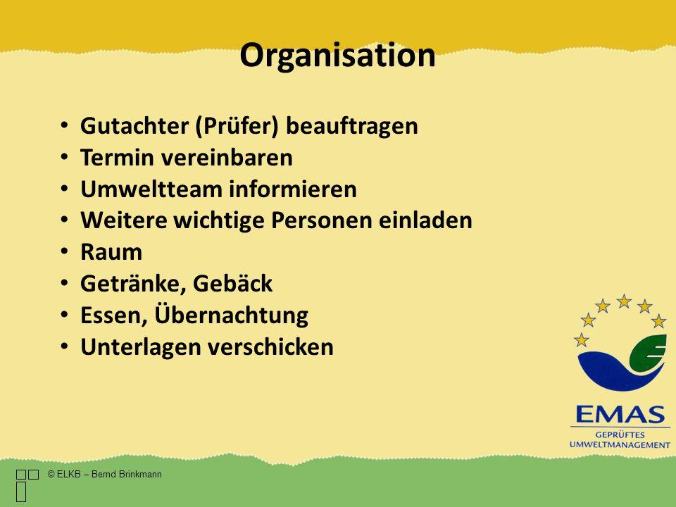 Organisation Gutachter (Prüfer) beauftragen Termin vereinbaren
