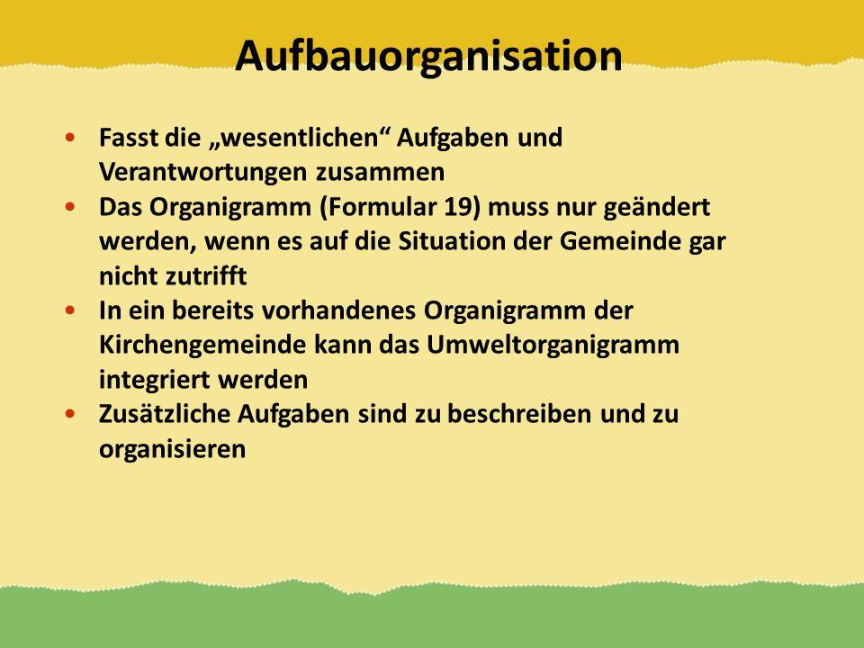 """Aufbauorganisation Fasst die """"wesentlichen Aufgaben und Verantwortungen zusammen."""