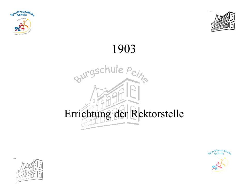 Errichtung der Rektorstelle