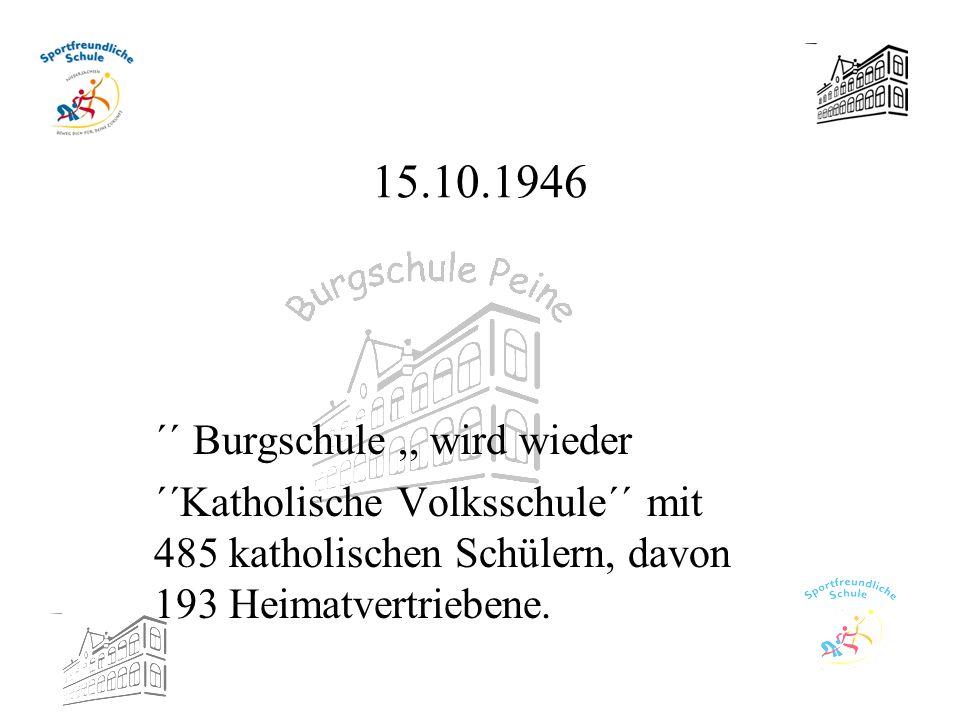 15.10.1946 ´´ Burgschule ,, wird wieder