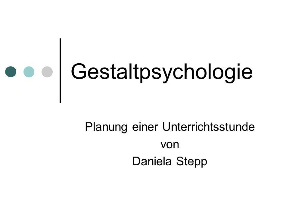 Planung einer Unterrichtsstunde von Daniela Stepp