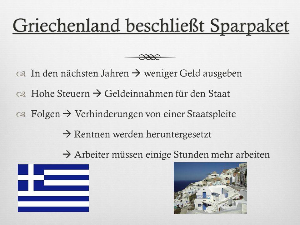Griechenland beschließt Sparpaket
