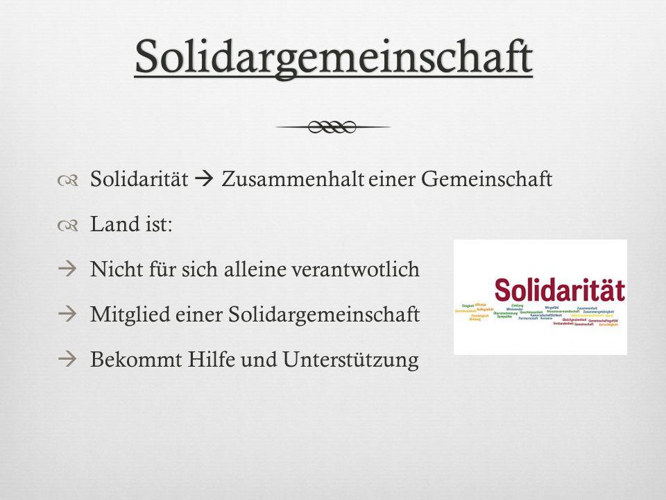 Solidargemeinschaft Solidarität  Zusammenhalt einer Gemeinschaft