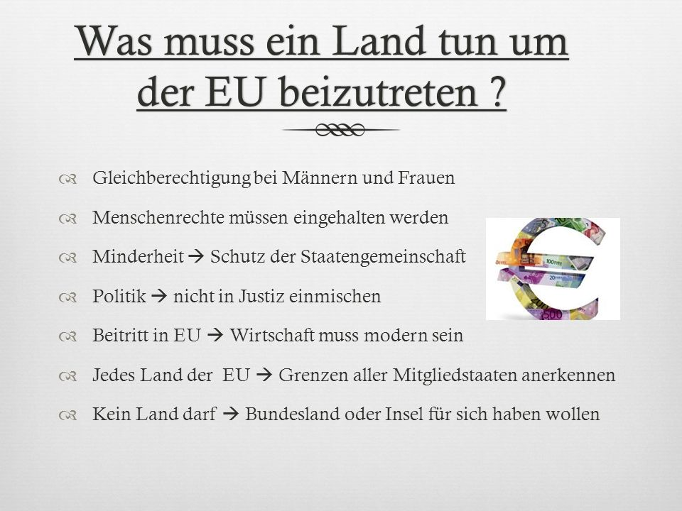 Was muss ein Land tun um der EU beizutreten