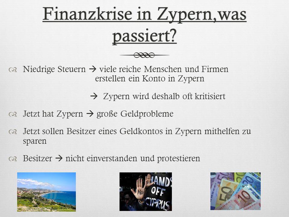 Finanzkrise in Zypern,was passiert