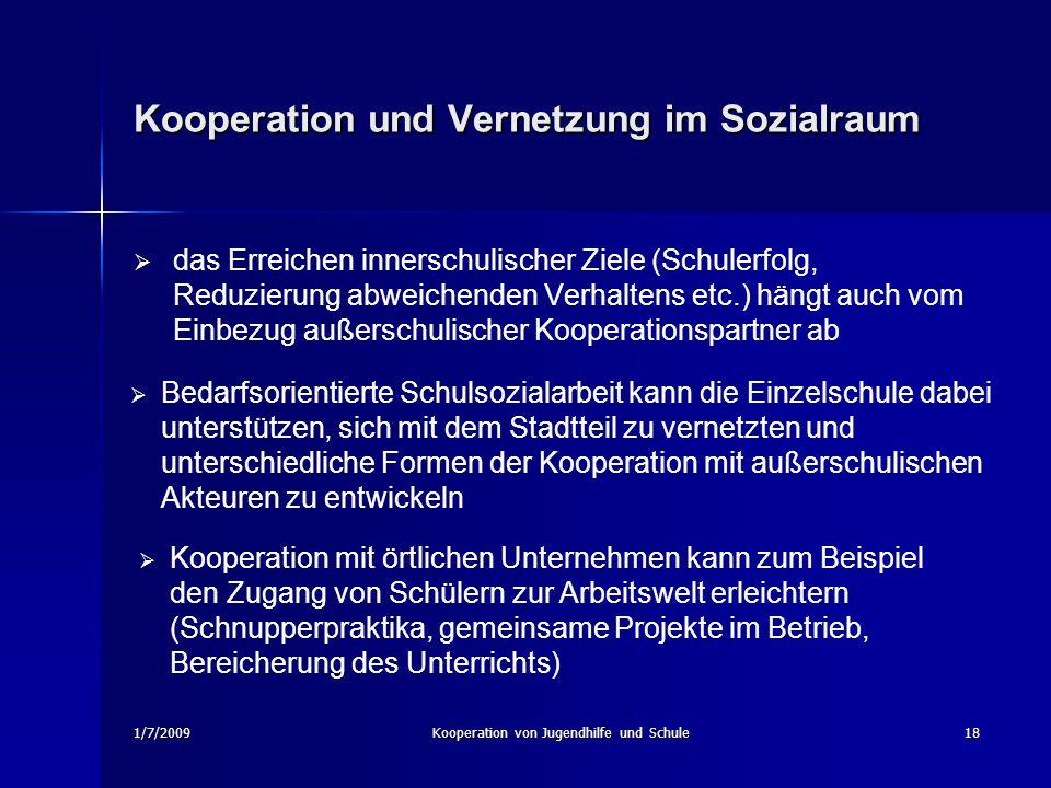 Kooperation und Vernetzung im Sozialraum