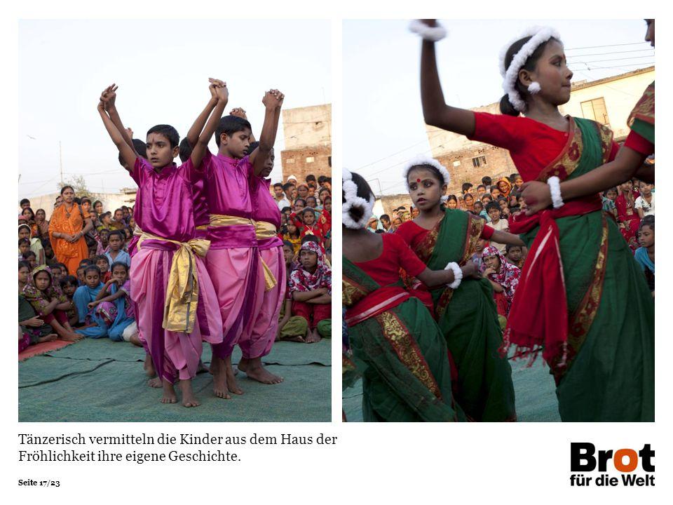 Tänzerisch vermitteln die Kinder aus dem Haus der Fröhlichkeit ihre eigene Geschichte.