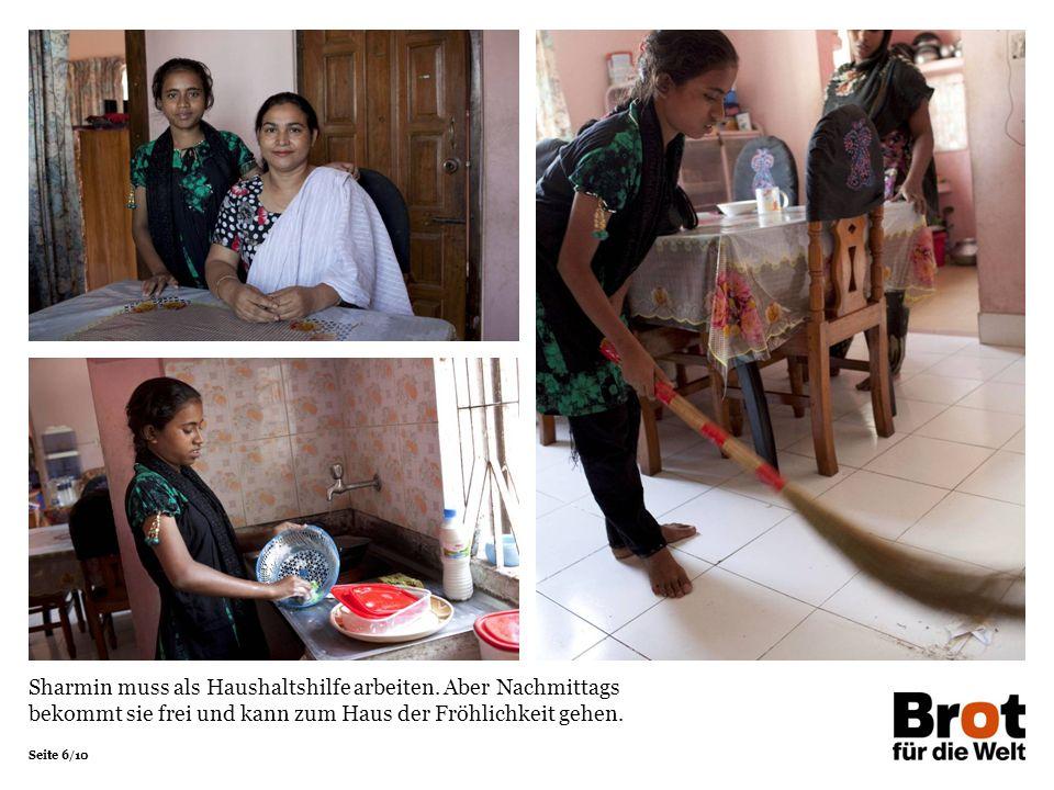 Sharmin muss als Haushaltshilfe arbeiten