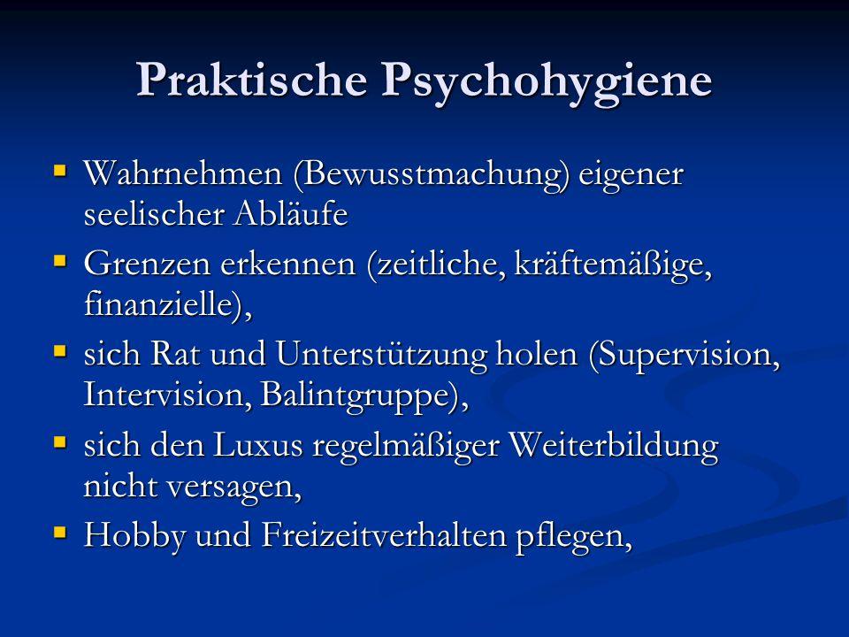 Praktische Psychohygiene