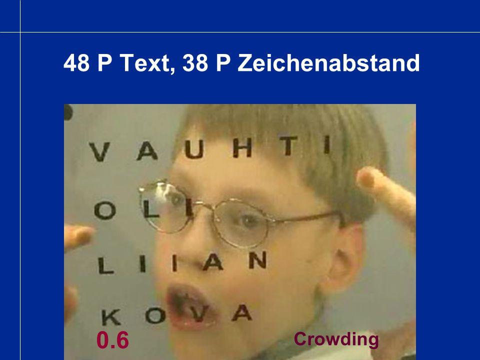 48 P Text, 38 P Zeichenabstand