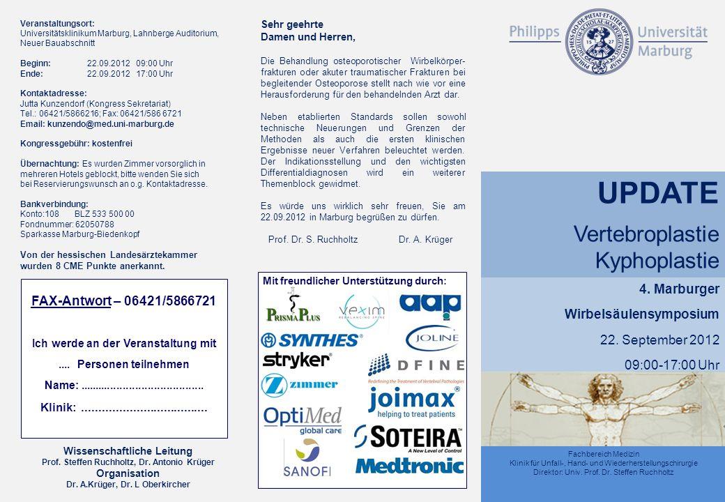Ich werde an der Veranstaltung mit Dr. A.Krüger, Dr. L Oberkircher