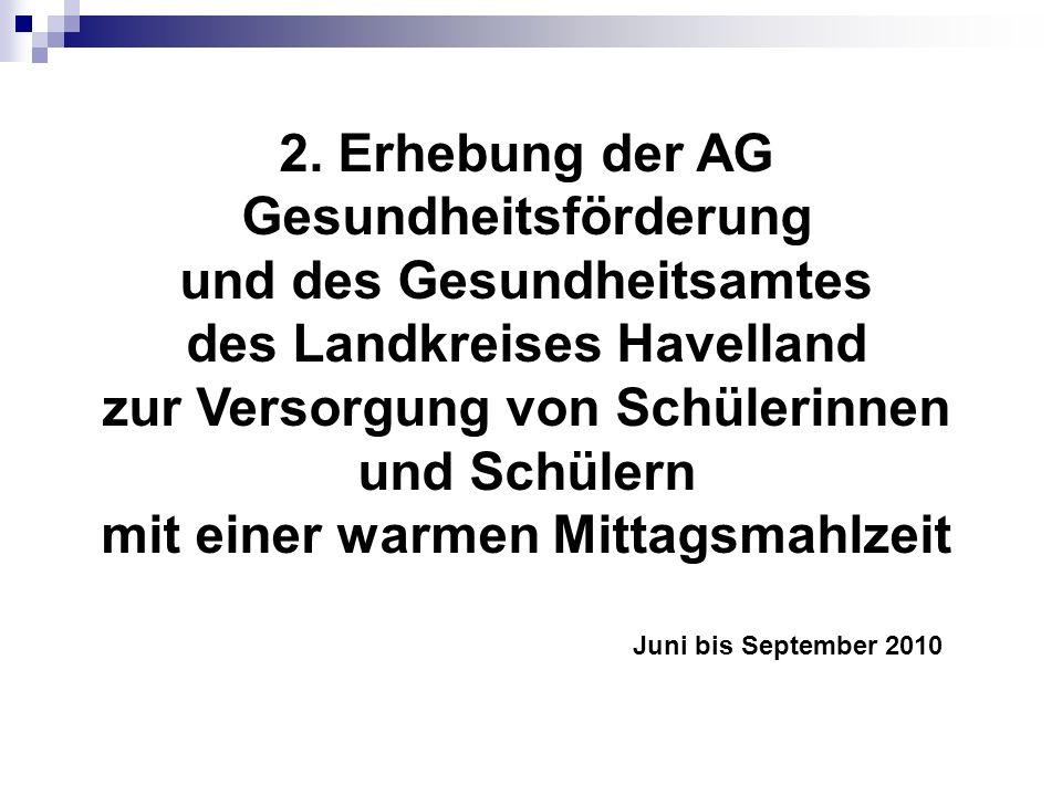 2. Erhebung der AG Gesundheitsförderung und des Gesundheitsamtes
