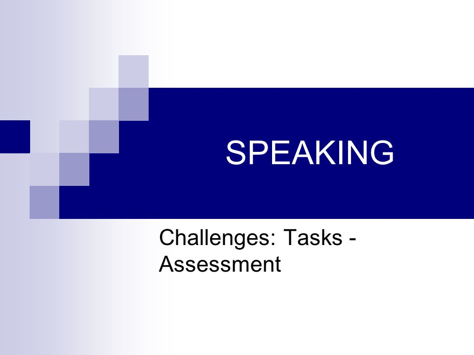 Challenges: Tasks - Assessment
