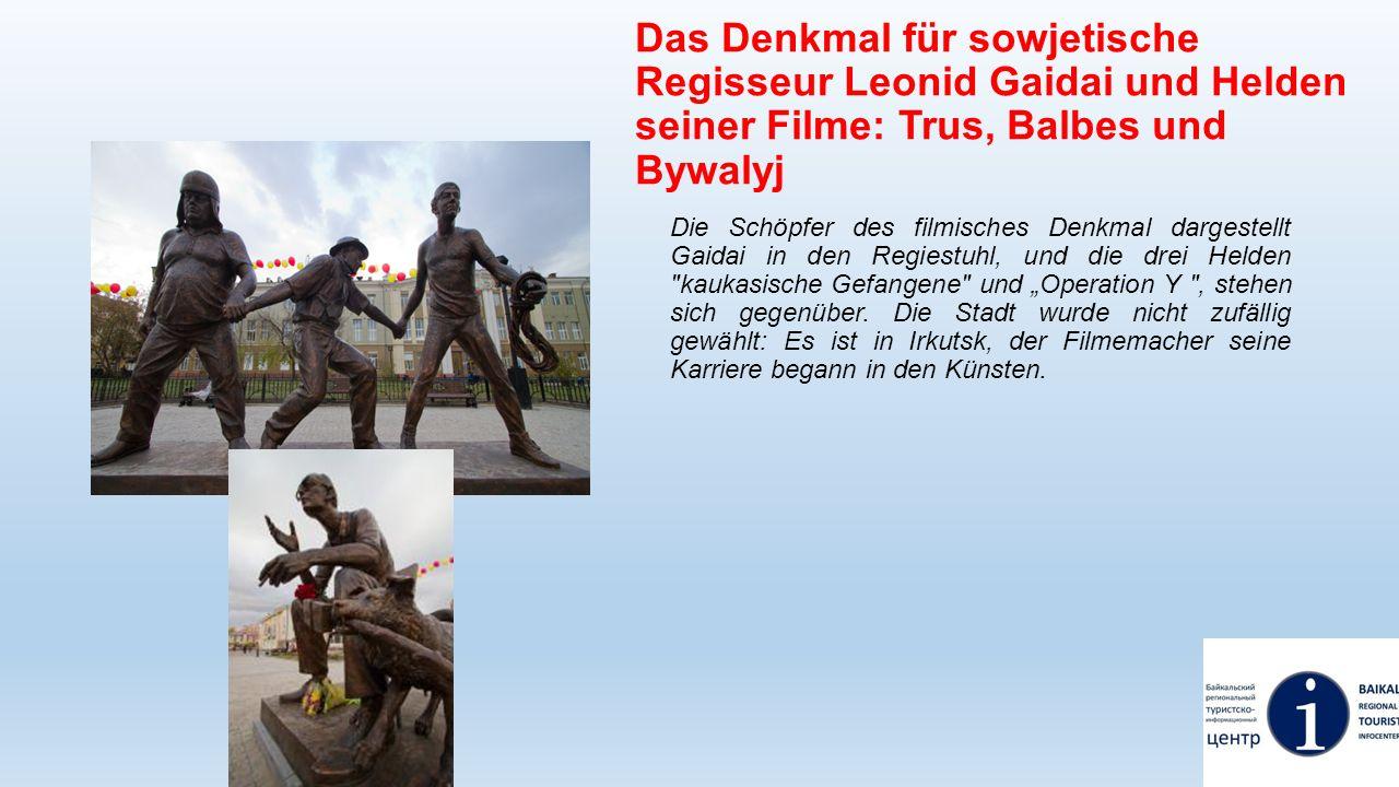 Das Denkmal für sowjetische Regisseur Leonid Gaidai und Helden seiner Filme: Trus, Balbes und Bywalyj