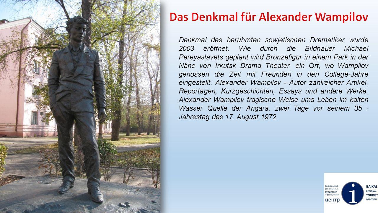Das Denkmal für Alexander Wampilov