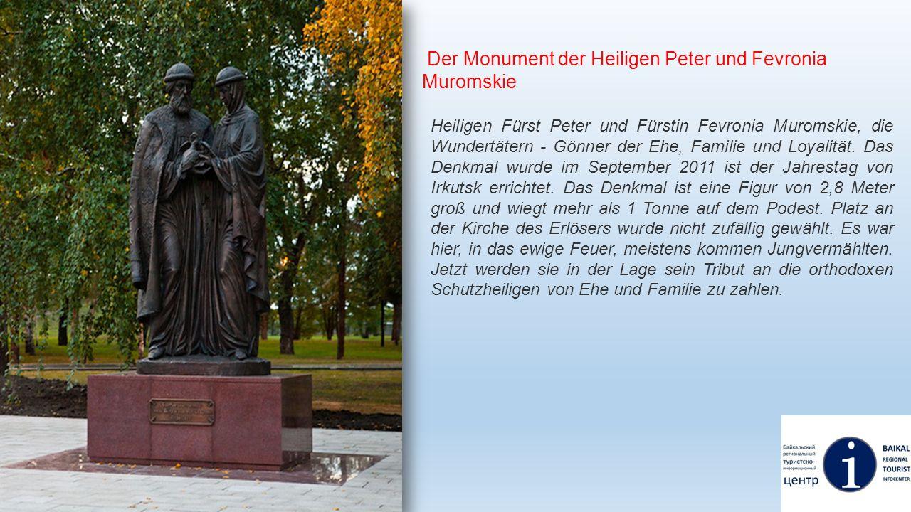 Der Monument der Heiligen Peter und Fevronia Muromskie