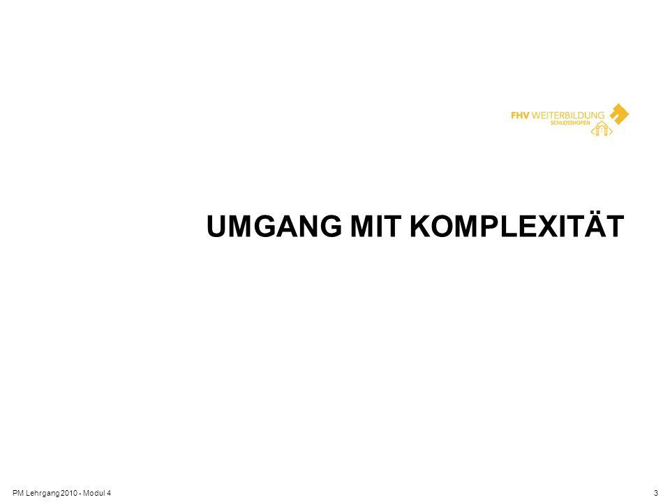 UMGANG MIT KOMPLEXITÄT