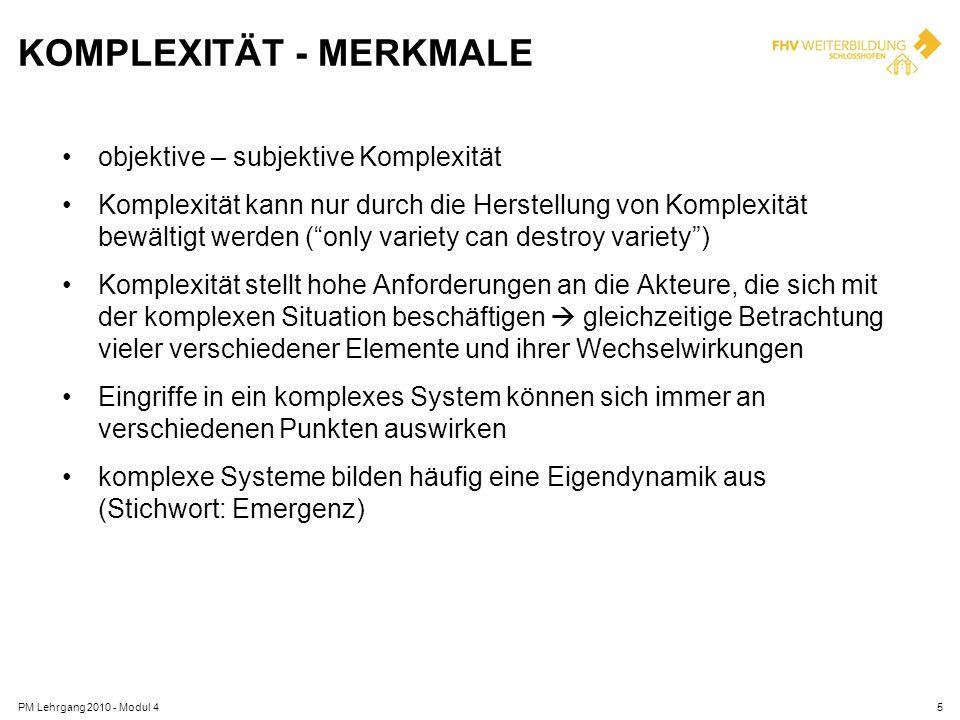 KOMPLEXITÄT - MERKMALE